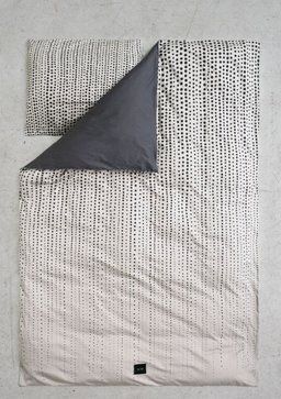 Duvet (Faded Dots in Paloma/grey) in cotton - GOTS certified/organic.