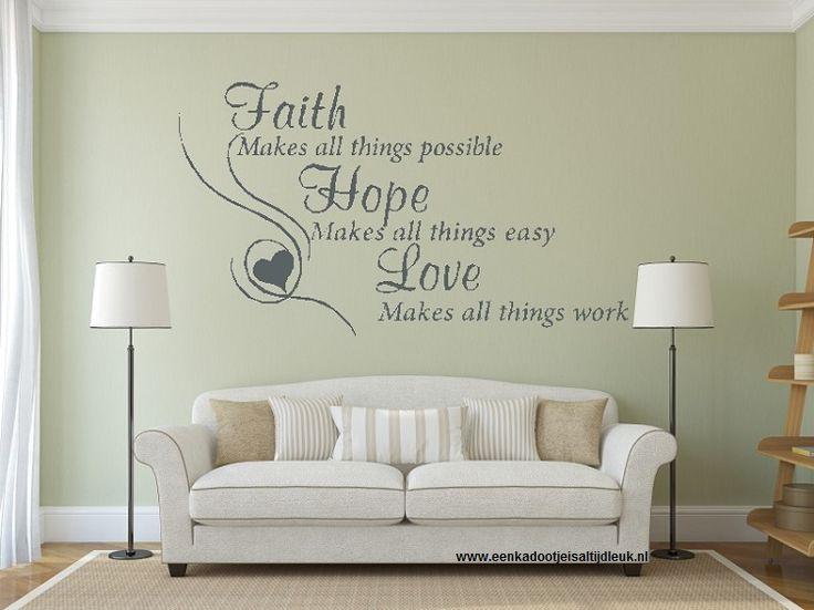 Faith Hope Love makes 100 x 60