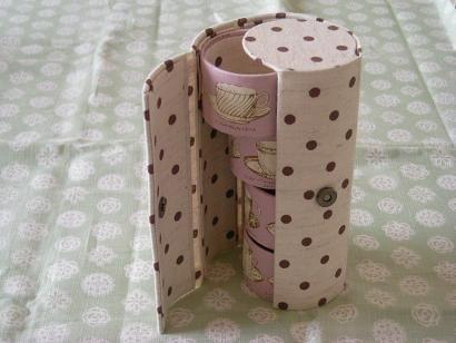 トイレットペーパーの芯のリメイク 完成! - ☆おかめLiving☆のんび~り日記