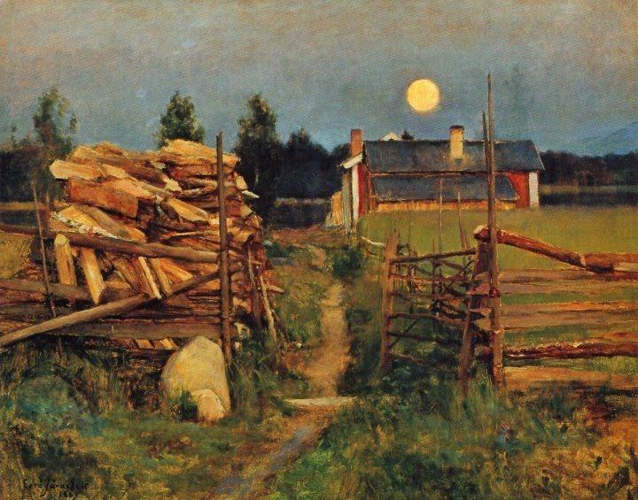 Eero Järnefelt -Kesäyön Kuu, 1889