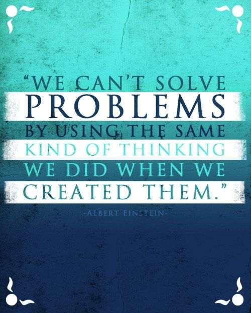 new thinking, new solutions #quote