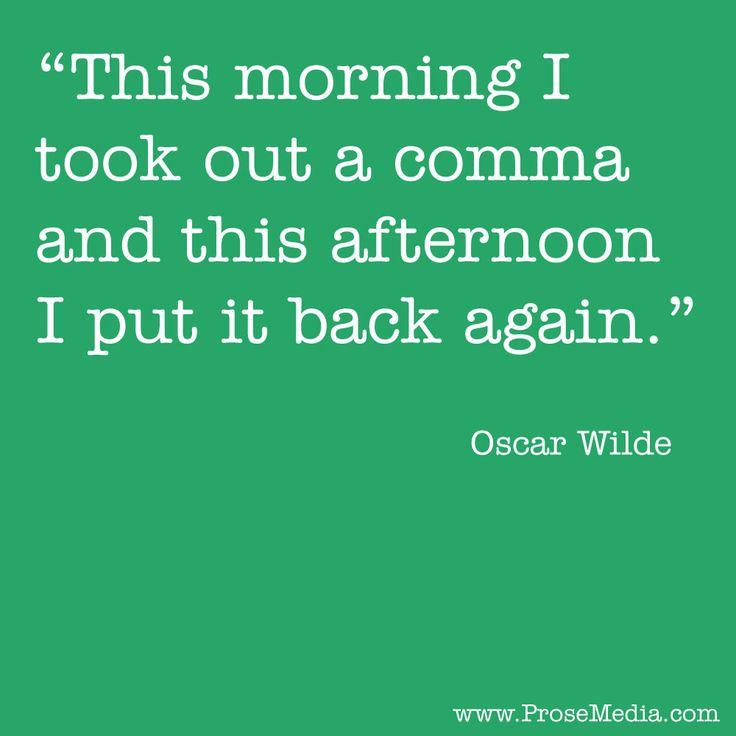 oscar wilde writing advice from ray