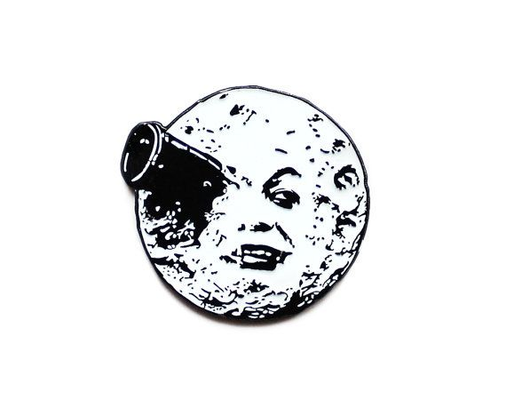 A Trip to the Moon classic movie enamel lapel by sweetandlovely
