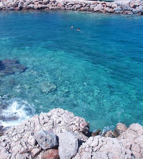 Swimming in Agios Nikolaos, Crete