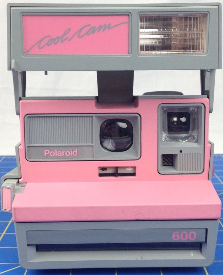 POLAROID 600 COOL CAM PINK & GRAY VINTAGE CAMERA With Flash #Polaroid