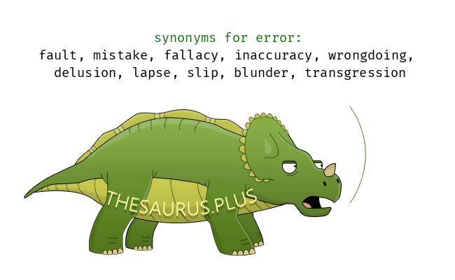 Synonyms for error