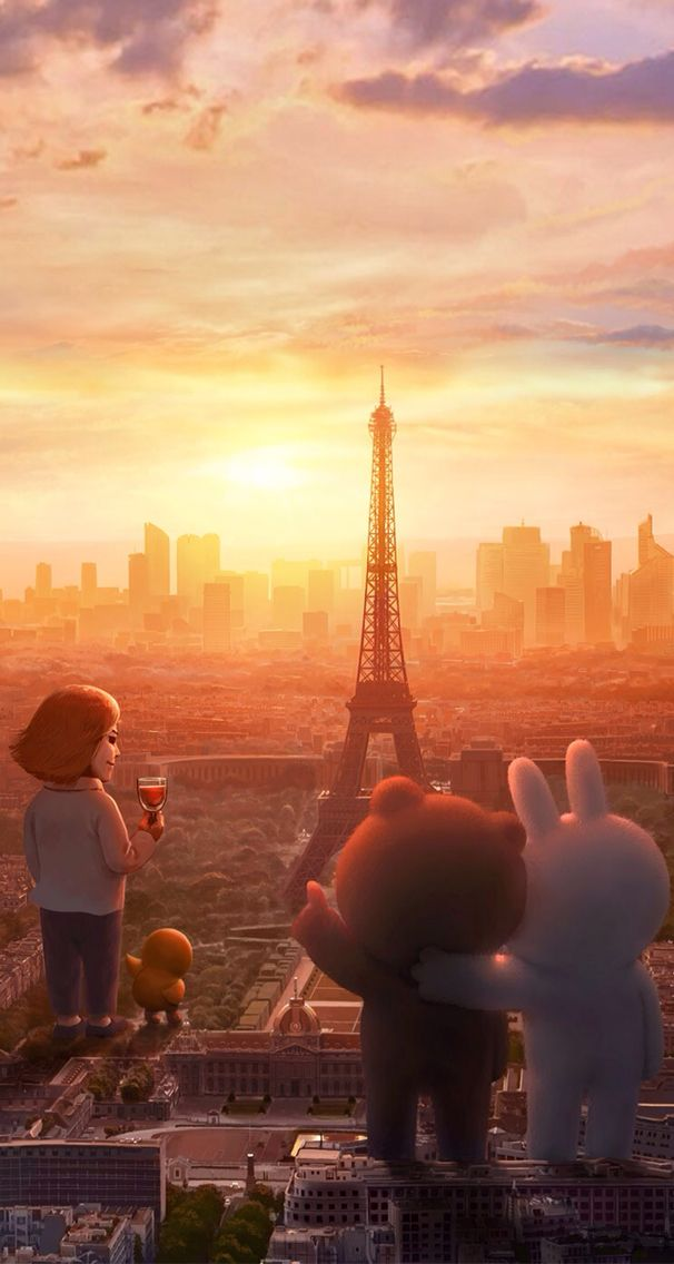 Brown and cony in Paris