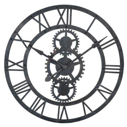 Horloge en métal noire D 76 cm TEMPS MODERNES