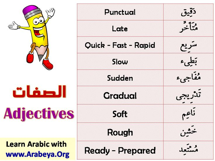 Adjectives part 4