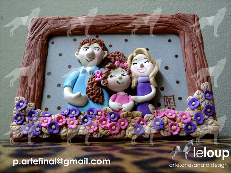 #Caricature#family#biscuit#handmade