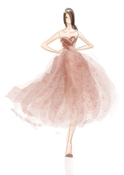05 Fashion Illustration by adobe illustrator
