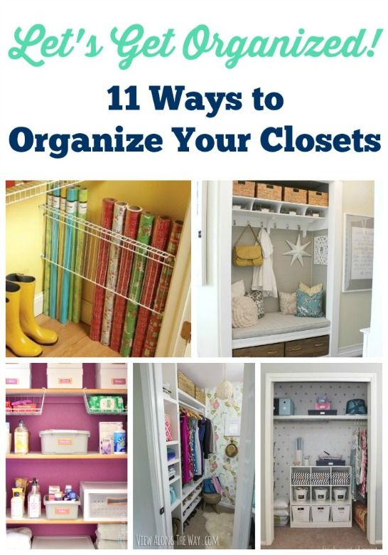 These tips for organizing a closet are awesome! There are so many great ideas that are easy on the budget.
