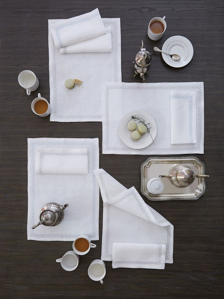 Diamonds are a table's best friend. Perry has a rhythmic pattern of geometric design that lends a relaxed tailoring to the table.