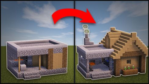 Minecraft: How To Remodel A Village Blacksmith # ...