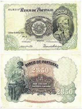 2,50 Escudos, 1920