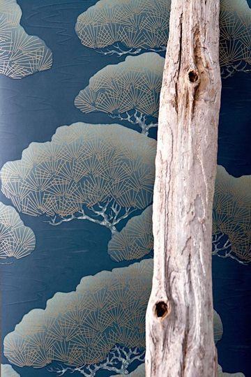 Un papier peint moderne tendance asiatique