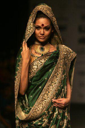 Indian girl in sari.