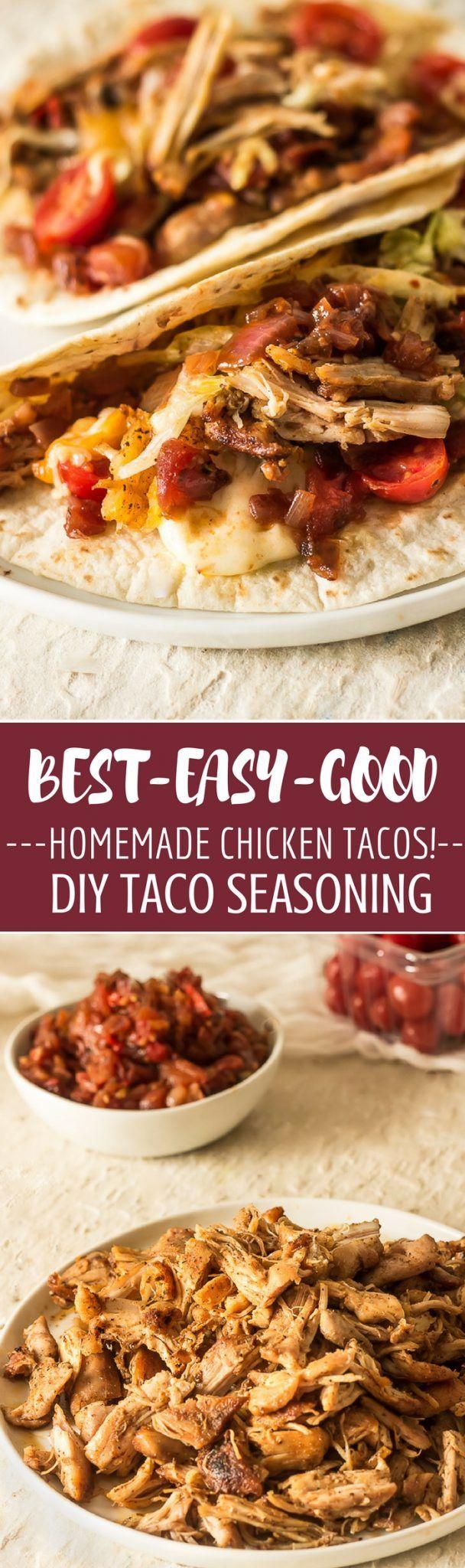 Chicken Tacos with Homemade Taco Seasoning and Habanero Salsa