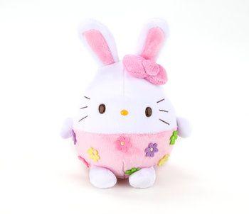 "Hello Kitty Egg 6"" Plush: Pink Easter Bunny"