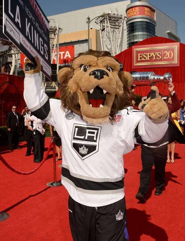 Bailey from the LA Kings on the ESPY red carpet, L.A. LIVE, 2012