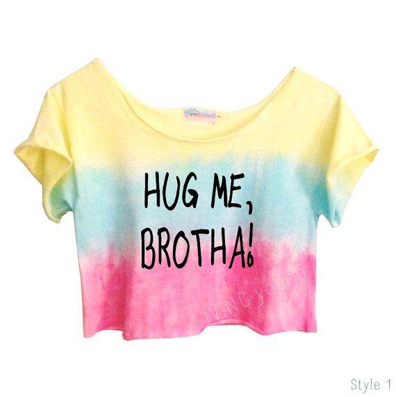 Hug Me Brotha! Ombre Tie Dye Crop Top #hugmebrotha #ombretiedye #croptop $24