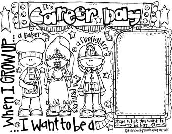 coloring pages for elementary school | Career Day coloring page - FREEBIE- by Melonheadz | Back ...