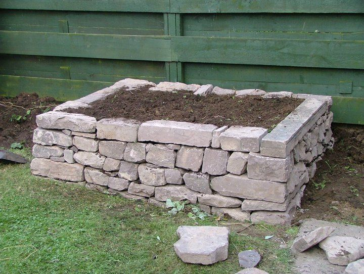 how to build a raised vegetable garden with stone