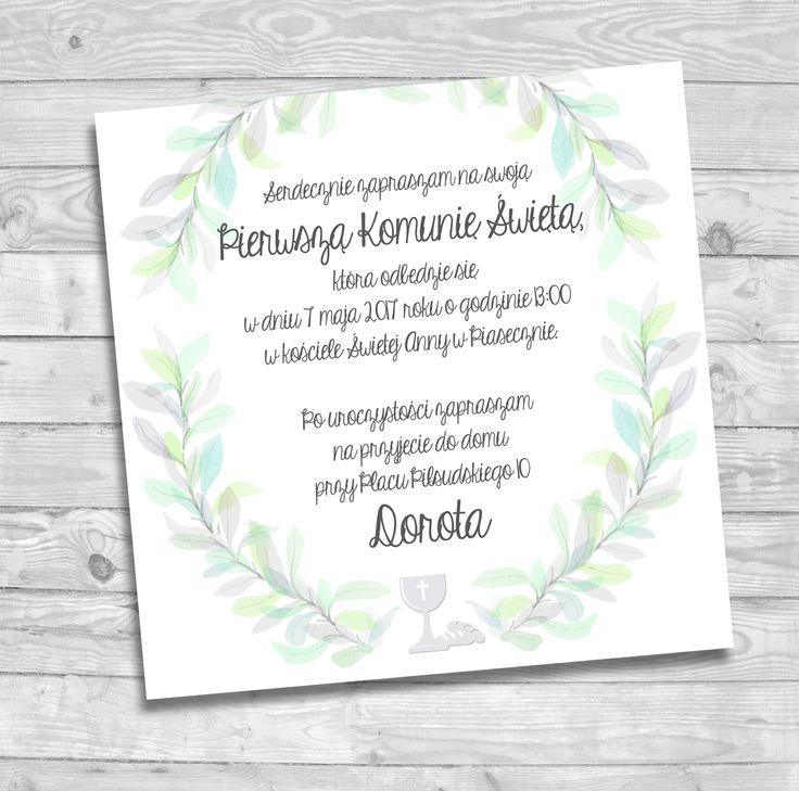 Zaproszenie na Pierwszą Komunię Świętą #komunia #komuniaswięta #zaproszenie #memorabli #handmade