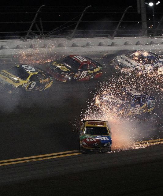 How The Hell Did Kyle Busch Save This #NASCAR Spin? Hit the pic for the #wtf action #saveoftheyear