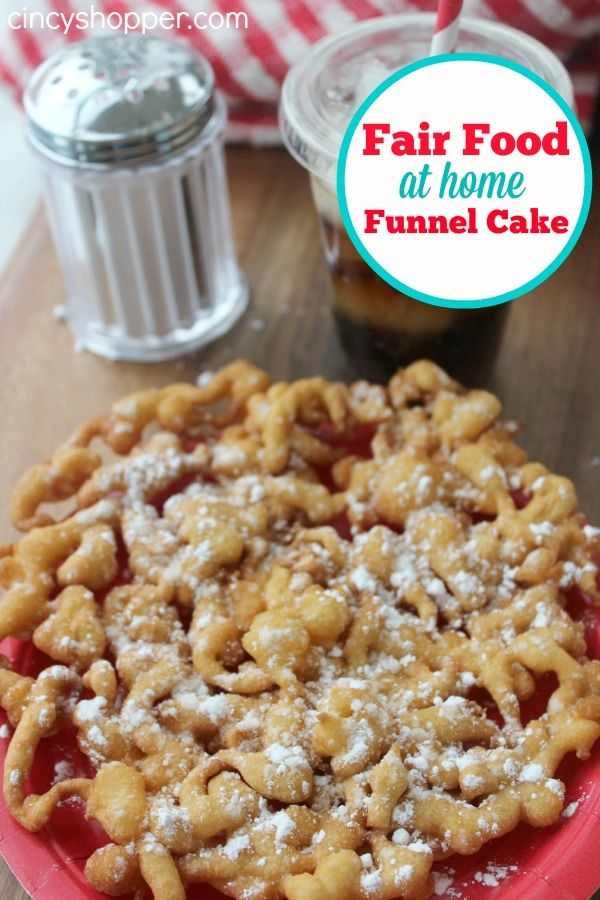 Fair Food at Home Funnel Cake Recipe! It's almost fair and festival season. make Fair Food at Home! So simple and so much cheaper to make at home!