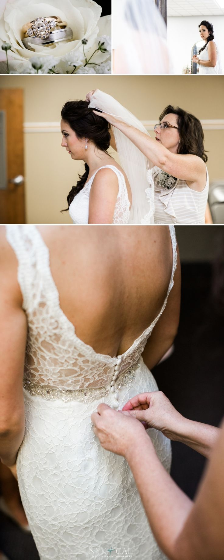 Nyk + Cali Wedding Photographers | Nashville, TN | Getting Ready | Ring | Detail | Dress |