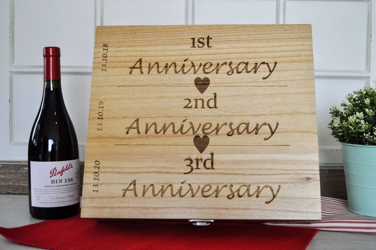 Personalised Triple Wooden Wine Box  Wedding Gift Anniversary Gift Personalised Wine Case