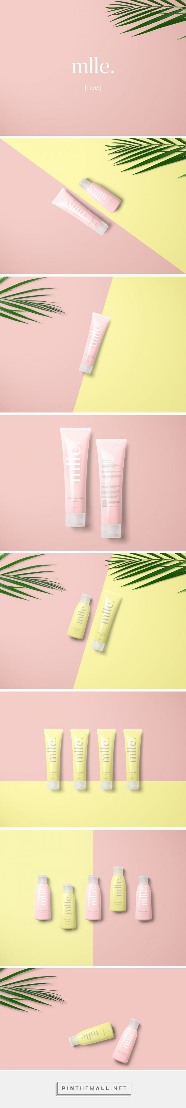 mlle. / packaging for mlle. Body and hand lotion (fraise cheesecake & lemon cookie). / MUJI