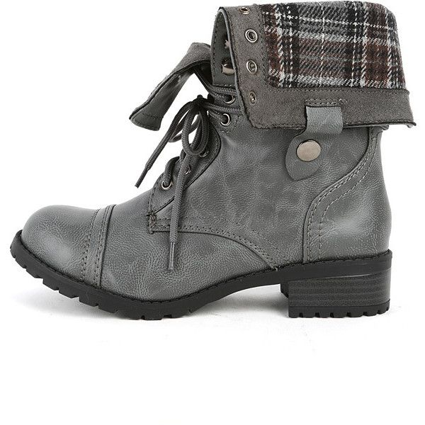 Amazing NEW LADIES WOMENS GREY MILITARY ARMY COMBAT BOOTS SIZES 3