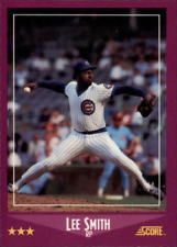 1988 Score Glossy Chicago Cubs Baseball Card #31 Lee Smith
