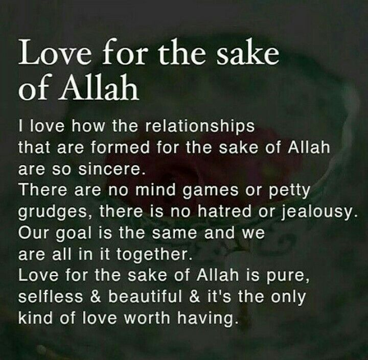 Love For The Sake Of Allah S W T Islam Marriage Muslim