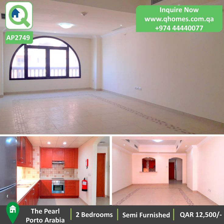 Apartment For Rent In Qatar: Semi Furnished Luxurious 2 Bedrooms Apartment  In Porto Arabia At
