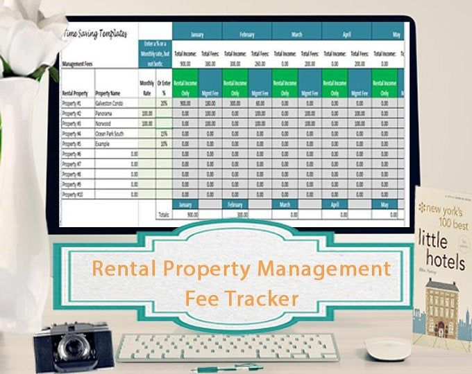 Landlords Spreadsheet Template Rent And Expenses Spreadsheet Etsy Rental Property Management Property Management Rental