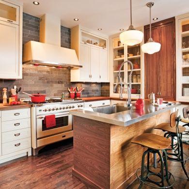 Cuisine de style bistro rustique - Cuisine - Avant après - Décoration et rénovation - Pratico Pratique