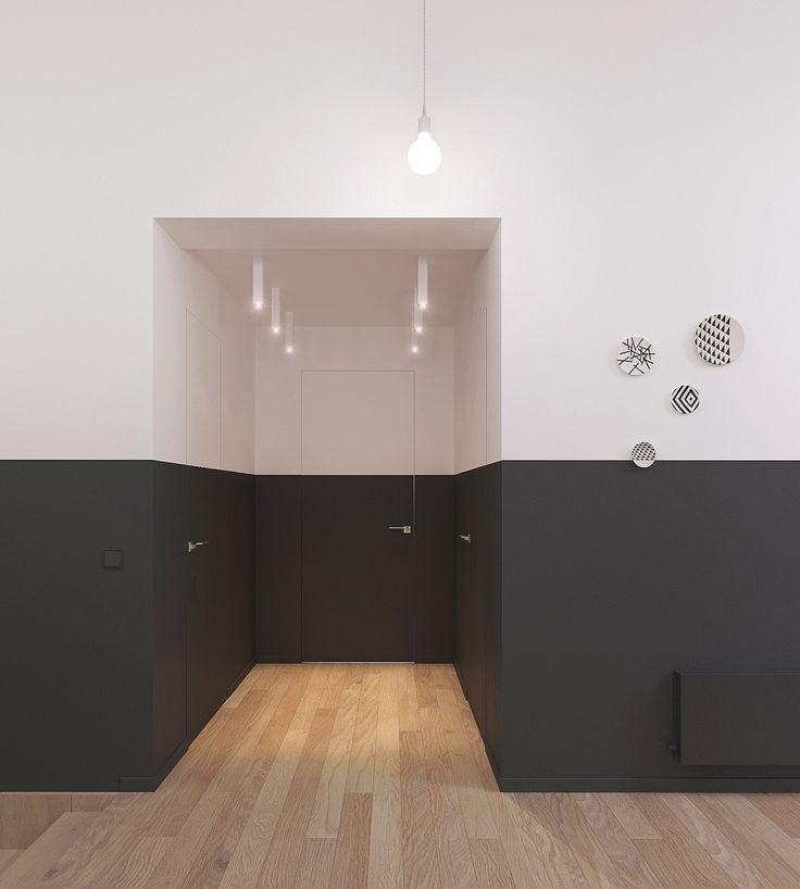 Porta verniciata in bianco e nero