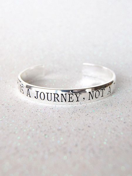 Black Tied Affirmation Cuff - Happiness Is A Journey, Not A Destination