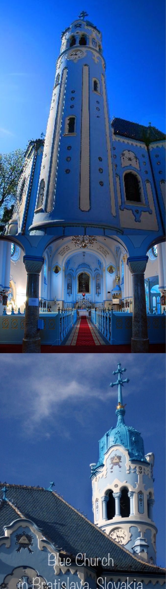 Blue Church in Bratislava, Slovakia