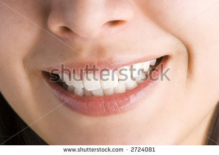 Close up of a female mouth smiling