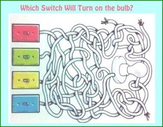 Classic Switch Bulb Picture Riddle : Picture Brain Teasers And Answers
