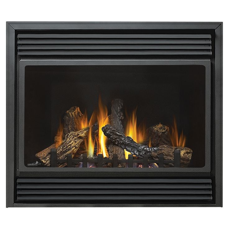 Shop 37 1 2 In Black Direct Vent Gas Fireplace At Fixer Upper House Ideas And Diy