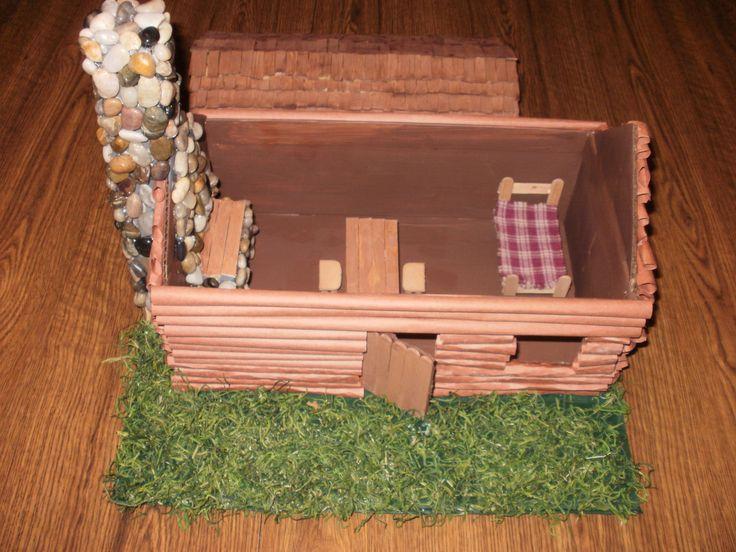 Model Log Cabin For 3rd Grade Social Studies Project