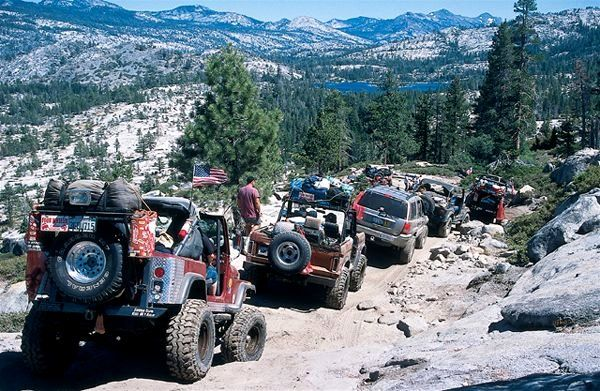 The goin' is slow over much of the Rubicon trail, and that's just fine with most participants, because the scenery is very beautiful. Description from fourwheeler.com. I searched for this on bing.com/images
