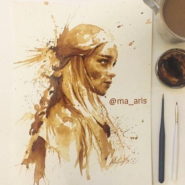 Art made with coffee