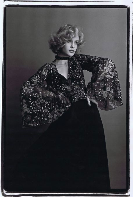 Jessica Lange, looking every inch the Biba Girl. 1974 . Photoby Ed Pfizenmaier.