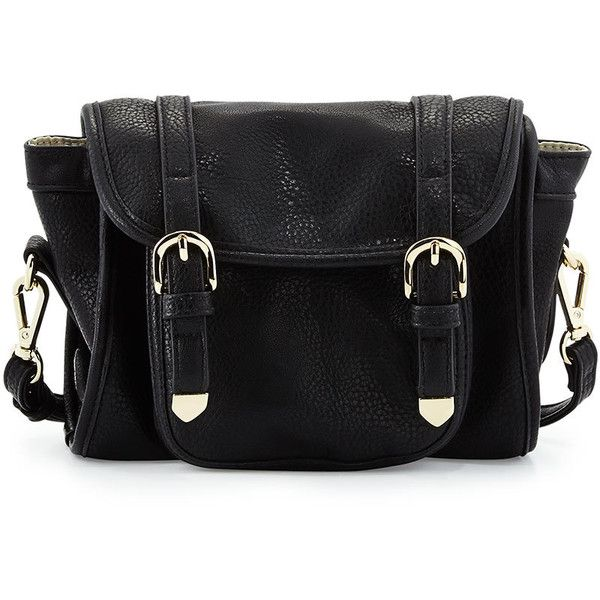 POVERTY FLATS by rian Camera Crossbody Buckle Bag ($33) ❤ liked on Polyvore featuring bags, handbags, shoulder bags, purses, accessories, bolsas, malas, black, black shoulder bag and crossbody handbags